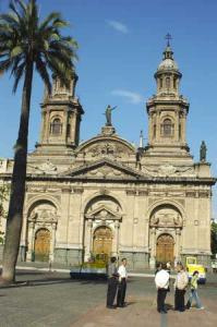 Tha cathedral in Santiago