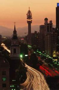 Santiago at night